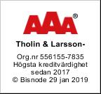 Kreditbetyg Tholin & Larsson