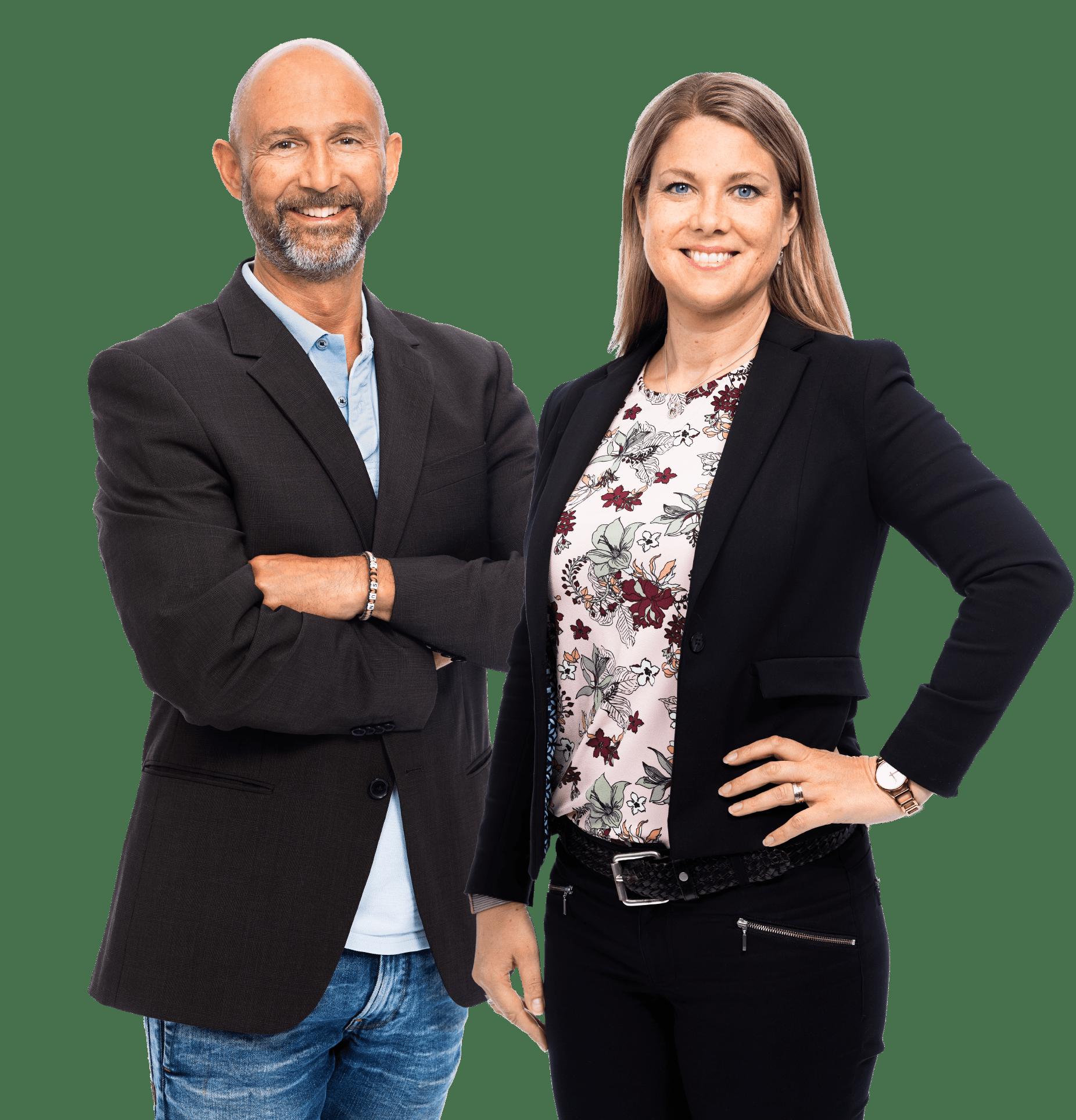 Håkan Larsson och Victoria Ödlund