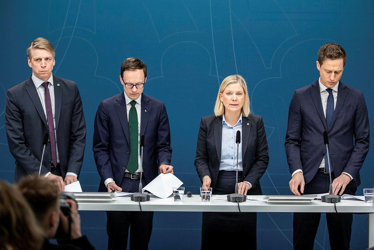 Ett förslag till extra ändringsbudget presenterades idag med anledning av coronaviruset. Foto Ninni Andersson/Regeringskansliet.