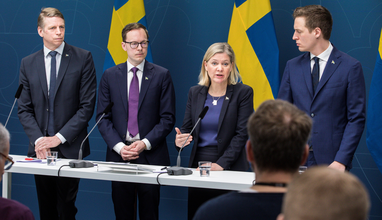 Regeringen presenterade under måndagen ett krispaket på upp till 300 miljarder med anledning av coronaviruset. Foto Ninni Andersson/Regeringskansliet.