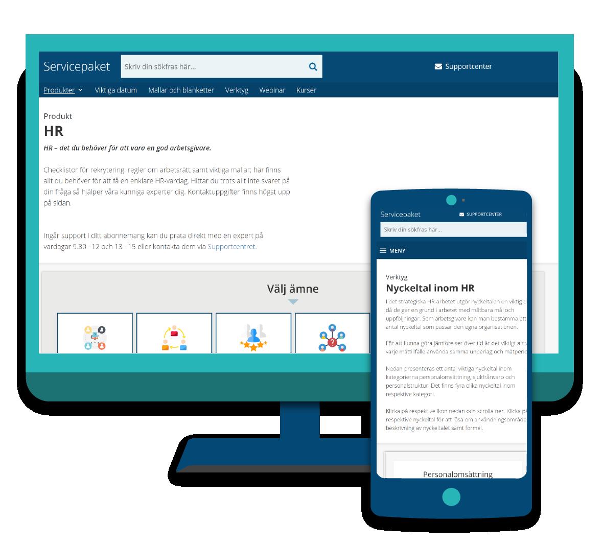 Servicepaket HR i dator och mobil