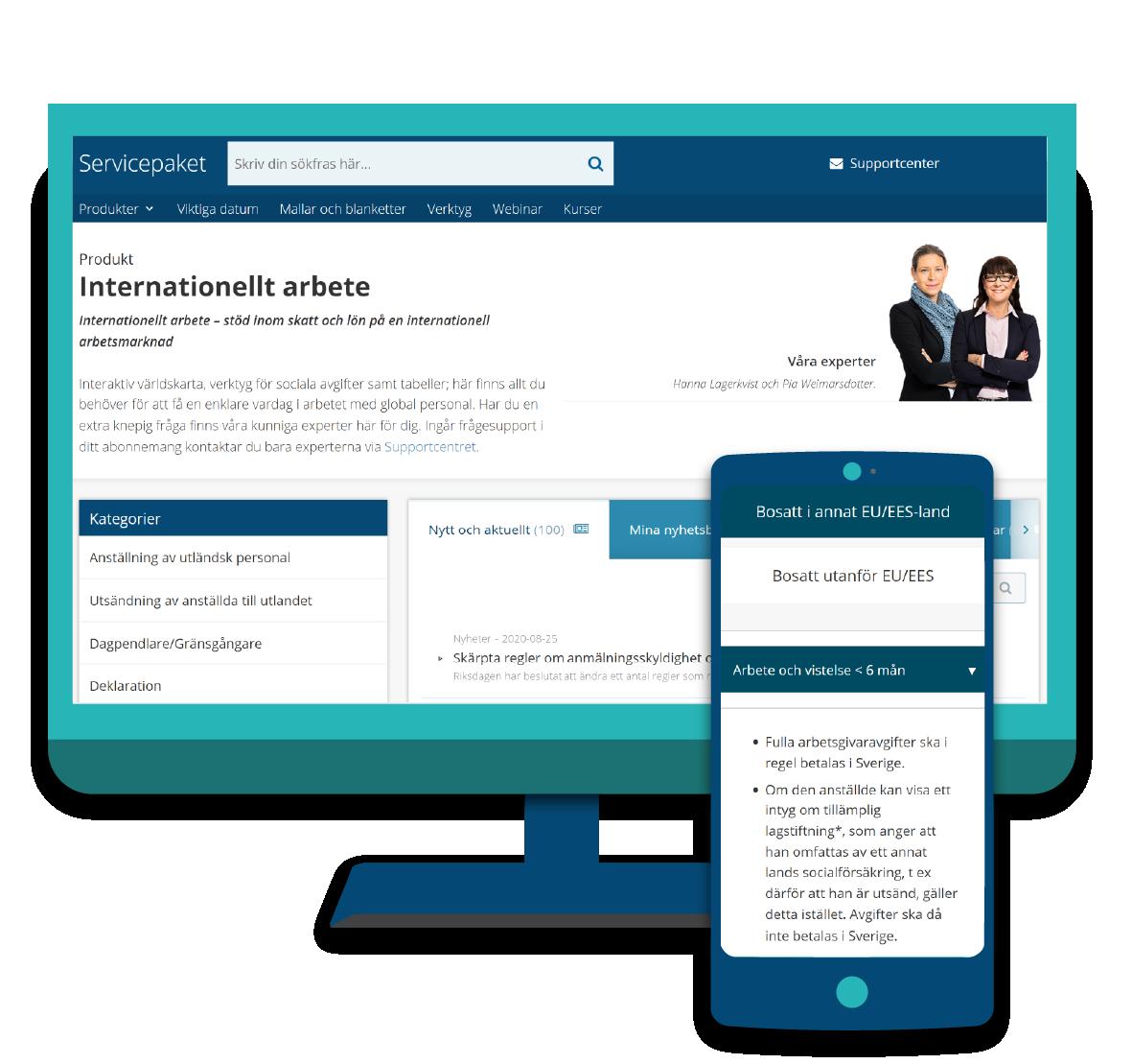 Servicepaket Internationellt arbete i dator och mobil